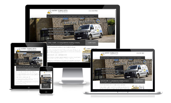 Amdec Forklifts - Web Designer Stoke on Trent