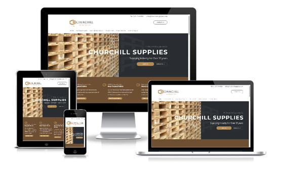 P Churchill Supplies Co - Web Designer Stoke on Trent