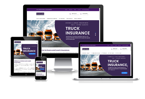 Evans and Lewis Insurance - Web Designer Stoke on Trent