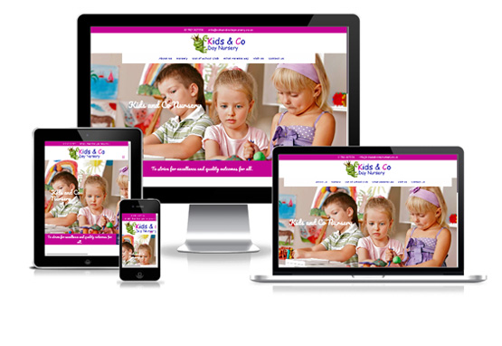 Visit Kids and Co Day Nursery - Web Designer Stoke on Trent