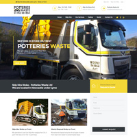 Web Design Stoke - Potteries Waste Limited Turner Cresent, Chesterton, Newcastle under Lyme, Staffordshire ST57JZ  Telephone 01782 561854