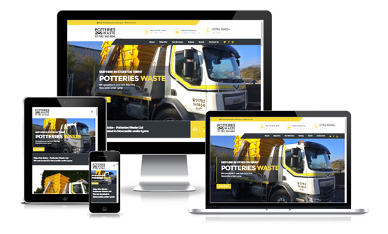 Potteries Waste - Web Designer Stoke on Trent