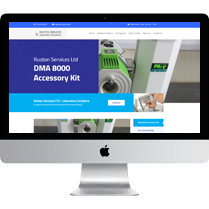 Web Designer Stoke For Ruston Services LTD Laboratory Solutions