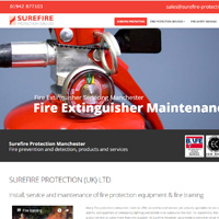 Web Design Stoke - Surefire Protection Astley Park Estate, Chaddock Lane, Astley Manchester M29 7JY Telephone 01942 877103